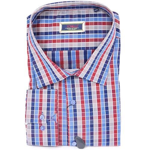 5bf74e968516 Košeľa TONELLI dlhý rukáv - barevná kostička - Košeľa TONELLI dlhý ...