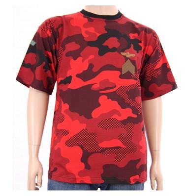 Tričko BRUNO nášivka - maskáč červený