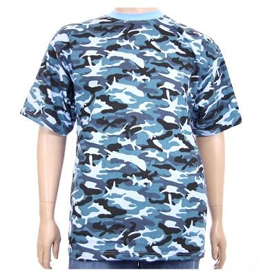 Tričko OLDA - maskáč světle modrý