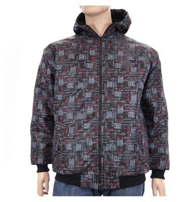 Zimná bunda AFLG III s kapucňou - one way černá