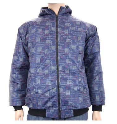 Zimná bunda AFLG III s kapucňou - one way modrá