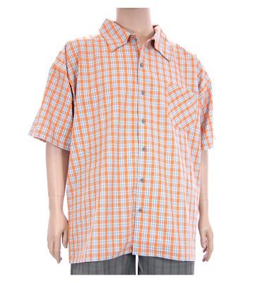 Košeľa AFLG krátky rukáv - oranžová kostička
