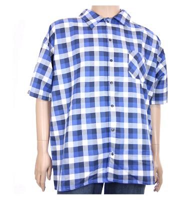 Košeľa AFLG krátky rukáv - modrá kostka